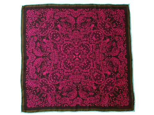 Magenta and Wine Silk 'Kathleen' Bandana