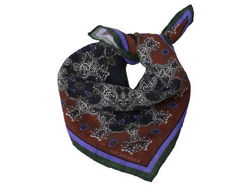 'Mayo Violet' – Red, Olive Green, Black and Violet Blue