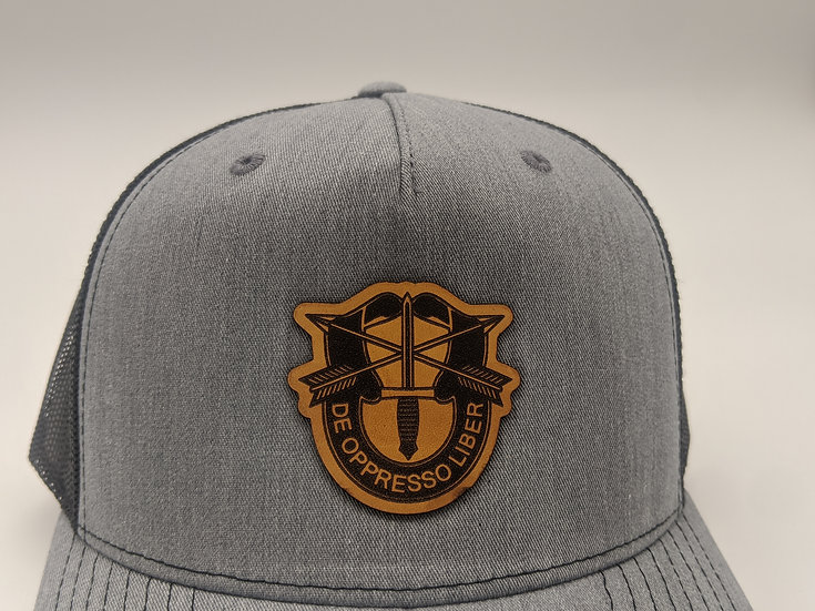 Special Forces crest -grey on black
