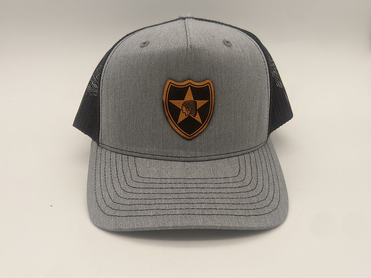 2nd Infantry Division unit patch on Tan hat