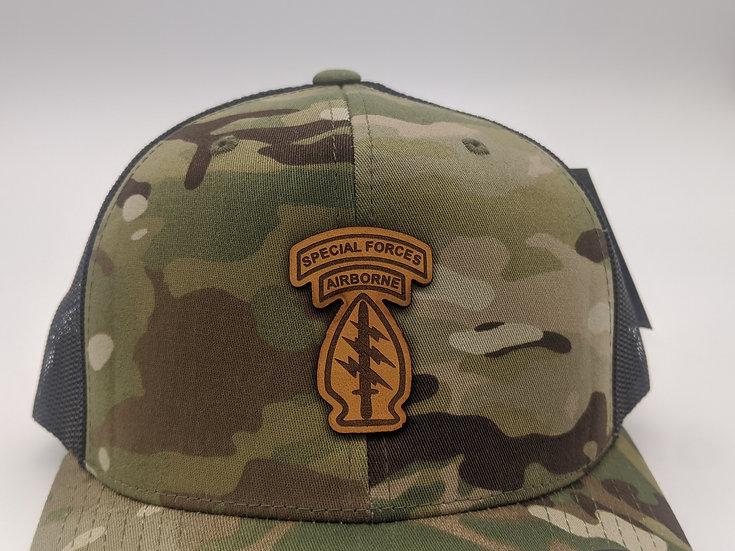 Special Forces Arrowhead patch- Multicamo hat