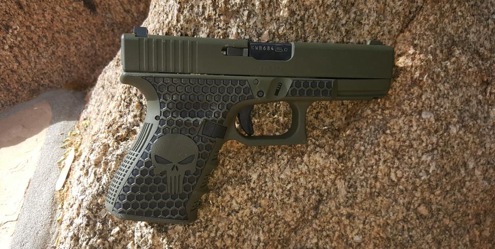 Custom cerakote Glock 23 Punisher