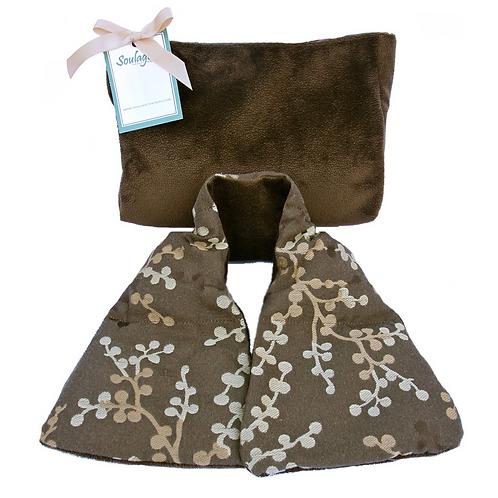 Asian Blossom Brown Neck Wrap