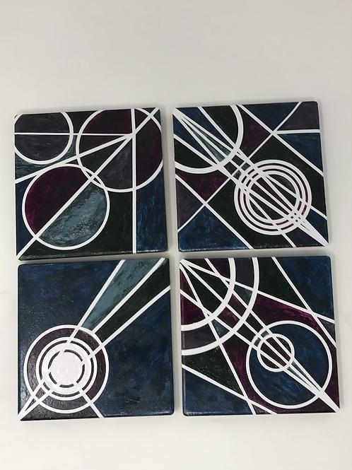 Oxidized Paint as Vinyl Coasters