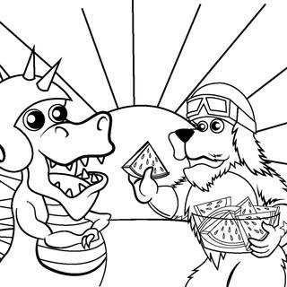 Dangersaurus Rex and Hot Dog Puppy