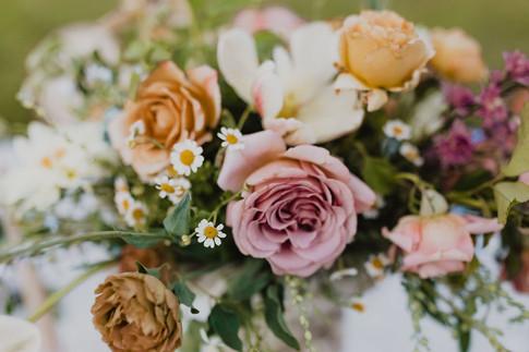 Pink Rose in a Flower Arrangement
