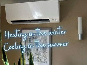 Heating in the winter, cooling in the summer