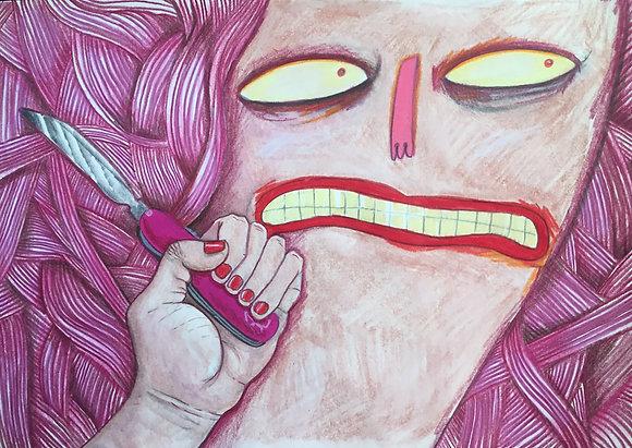 Carolina Castañeda // Coraje con navaja rosa