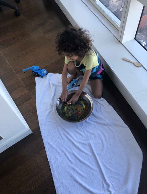 Sensory play at home