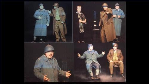 « Mort pour » interprétée dans le cadre des commémorations de la Der des Der en Belgique par la Cie Les Trois Coups