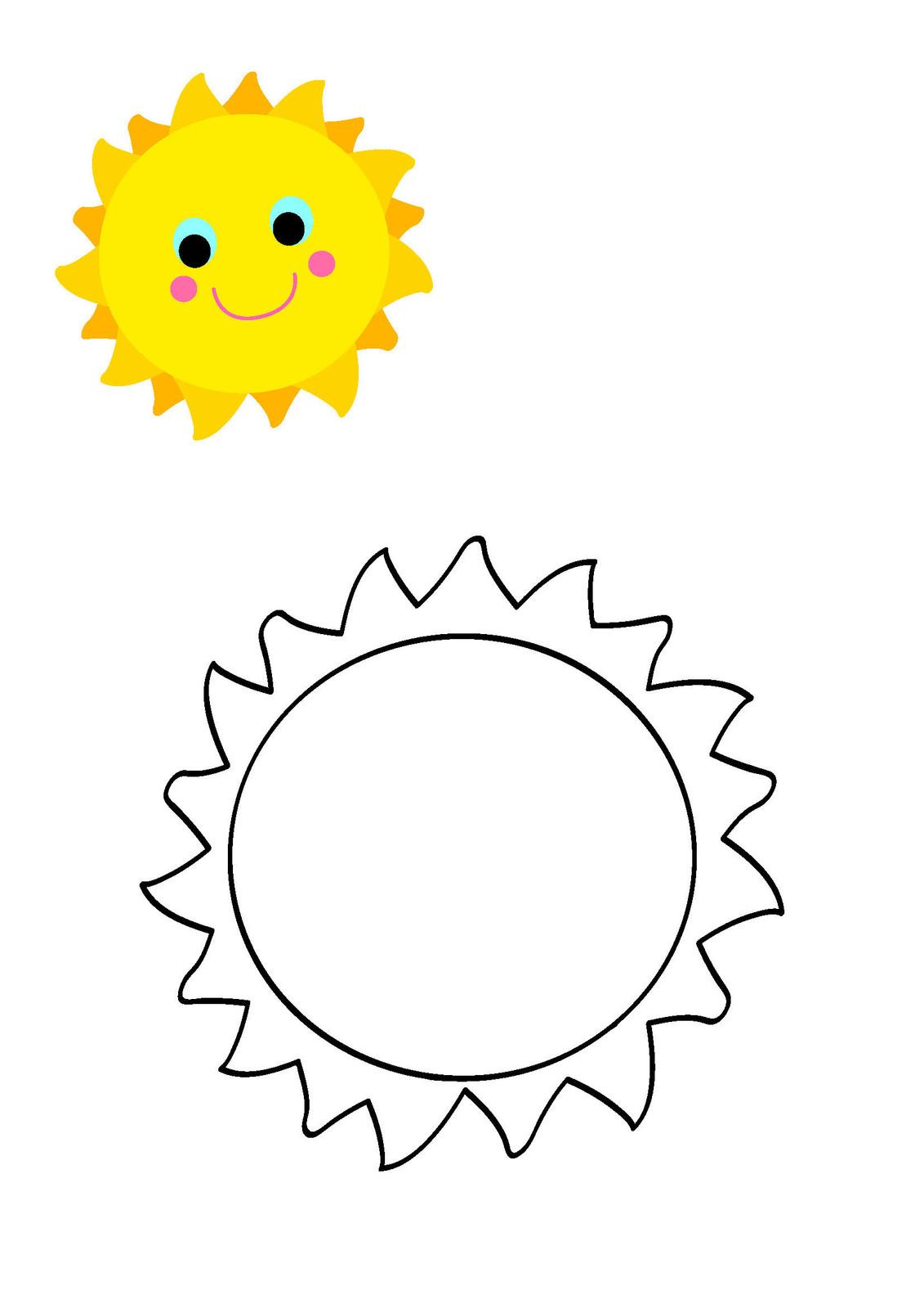 Immagine Sole Da Colorare.Sole Da Colorare