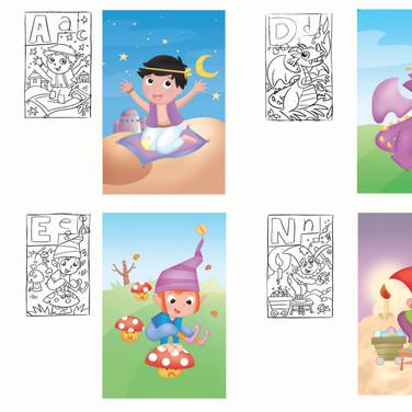 L'alfabeto · Elaborazione Immagini e Colorazione Digitale