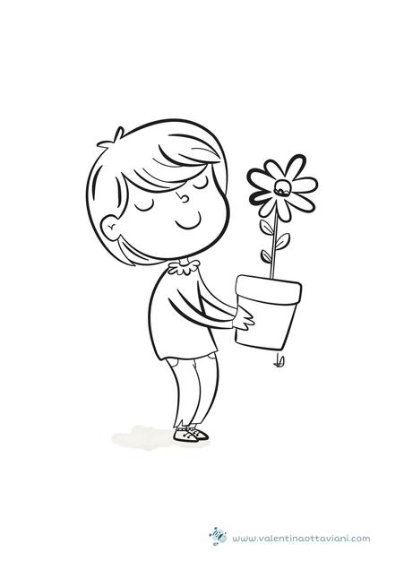 Bimba con fiore