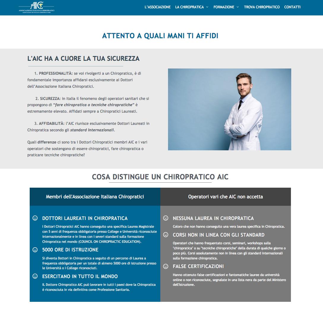 chiropratica webdesign