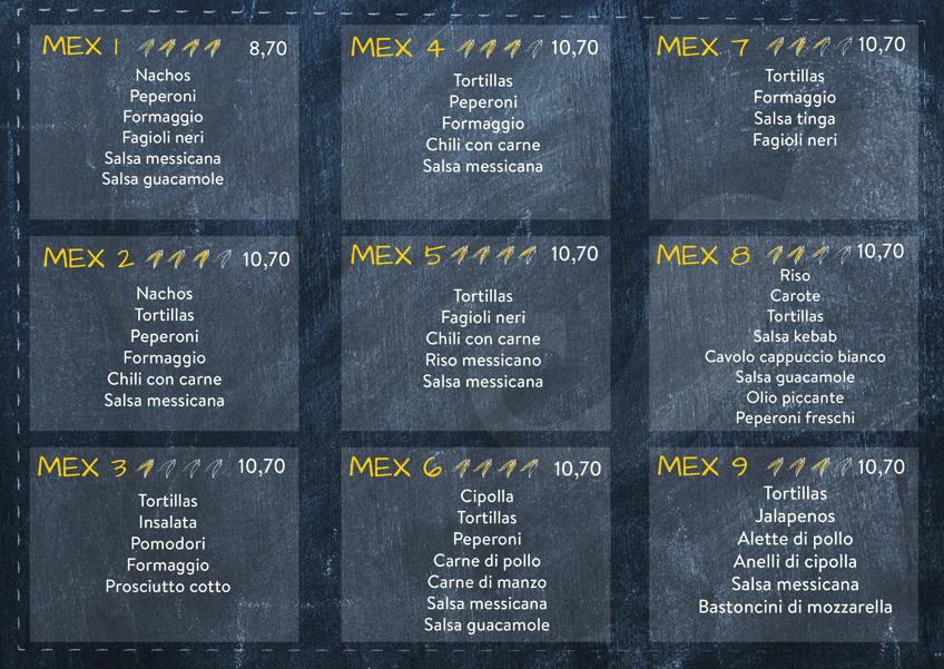 menu mex retro