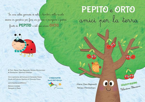 Pepito e Orto, Libro per bambini, Storie per bambini, Musicarte Srl, Comune Camerata Picena, Scuola Aquilone