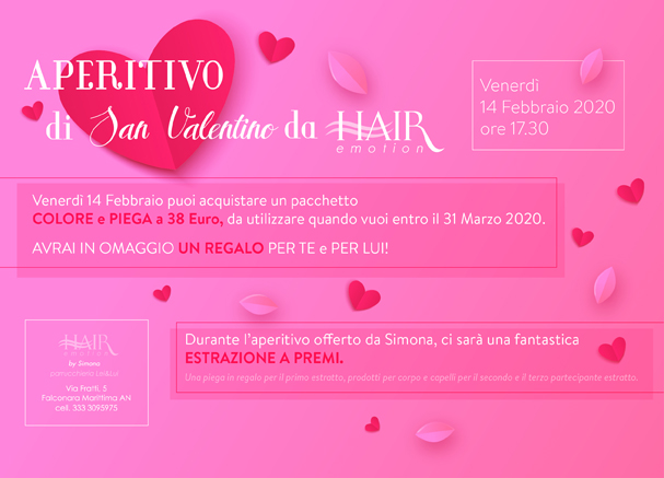 invito aperitivo da hair emotion