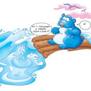 Il Capitano Orso Blu · Colorazione Digitale