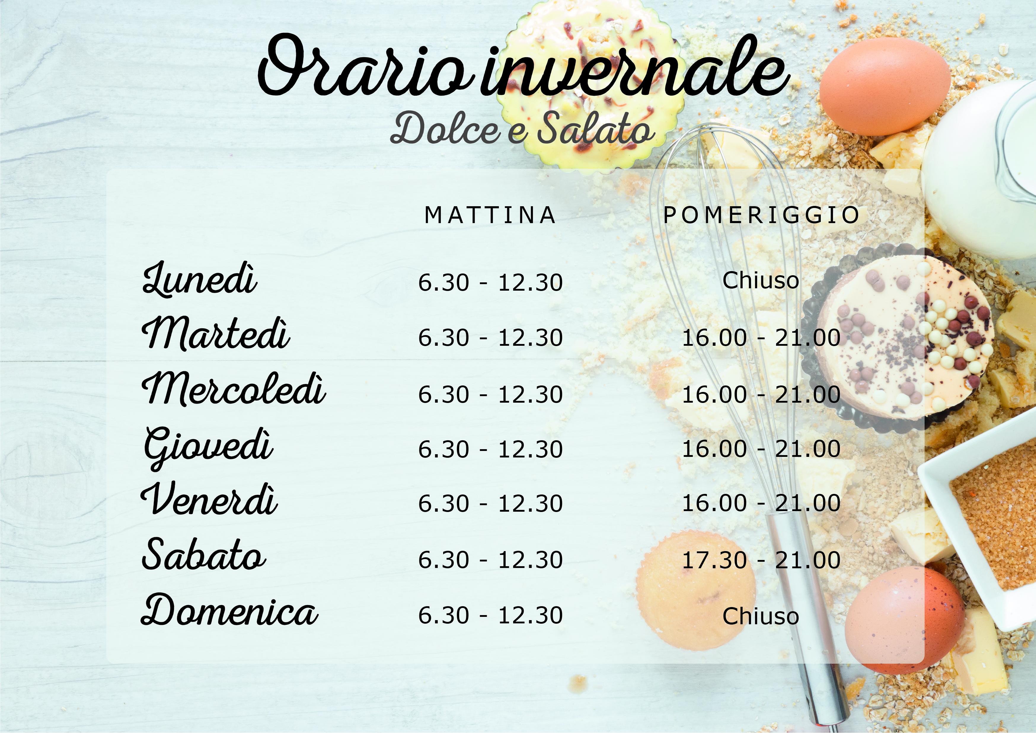 orario Dolce Salato