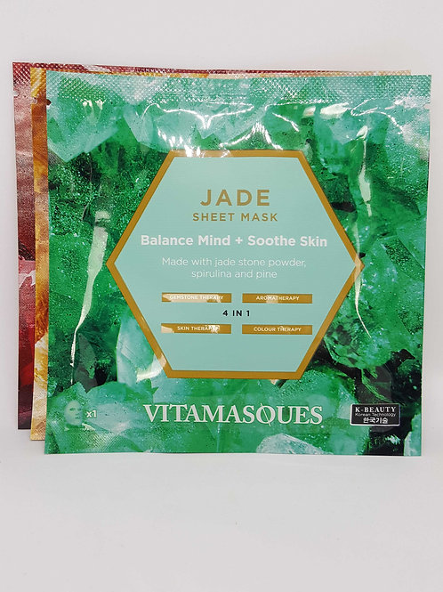 Vitamasques gemstone collection Jade sheet mask