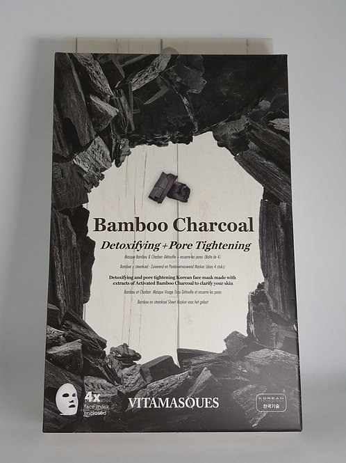 Vitamasques - Bamboo Charcoal 4 pack