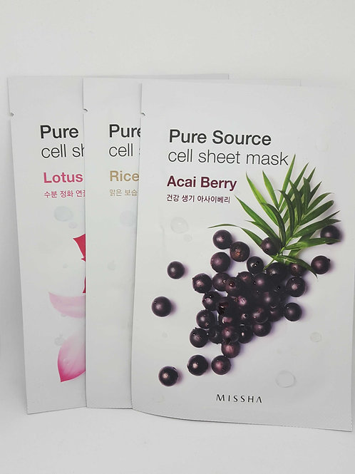 Missha Pure Source Sheet Masks