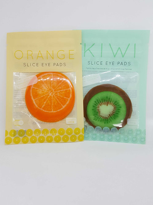 Vitamasques Sliced eye pads, orange and kiwi