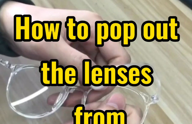 How to pop off lens from glasses frame?