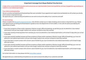 ▶▶호주 학생비자 Bupa 신체검사 추가 공지/예약방법