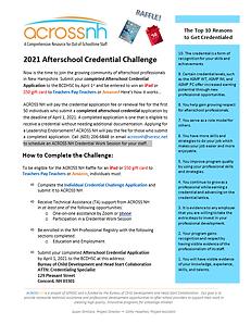 Afterschool Credential Challenge Applica