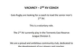 Coach Vacancy