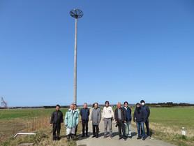 河北潟(石川県津幡町)に人工巣塔を立てさせていただきました。