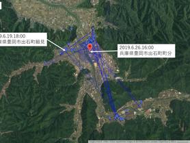 GPS情報 J0097♂ 2019.6.19.18:00~2019.6.26.16:00