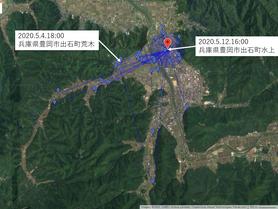 GPS情報 J0097♂ 2020.5.4.18:00~2020.5.12.16:00