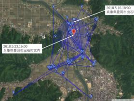 GPS情報 J0097♂ 2018.5.16.18:00~2018.5.23.16:00