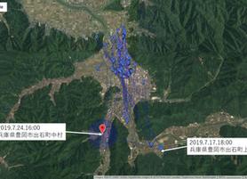 GPS情報 J0097♂ 2019.7.17.18:00~2019.7.24.16:00