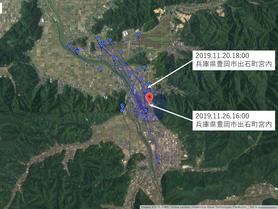 GPS情報 J0097♂ 2019.11.20.18:00~2019.11.26.16:00