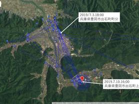 GPS情報 J0097♂ 2019.7.3.18:00~2019.7.10.16:00