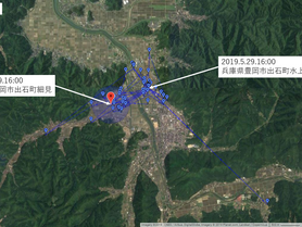 GPS情報 J0097♂ 2019.5.22.18:00~2019.5.29.16:00