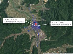 GPS情報 J0097♂ 2019.4.10.18:00~2019.4.17.8:00