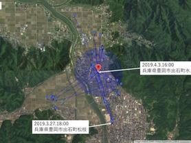 GPS情報 J0097♂ 2019.3.27.18:00~2019.4.3.16:00