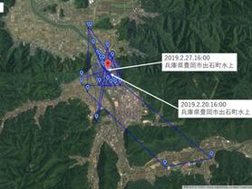 GPS情報 J0097♂ 2019.2.20.18:00~2019.2.27.16:00