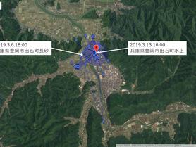 GPS情報 J0097♂ 2019.3.6.18:00~2019.3.13.16:00