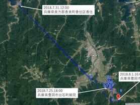 GPS情報 J0097♂ 2018.7.25.18:00~2018.8.1.16:00
