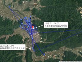 GPS情報 J0097♂ 2018.7.4.18:00~2018.7.11.16:00