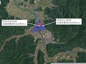 GPS情報 J0097♂ 2019.5.1.18:00~2019.5.8.16:00