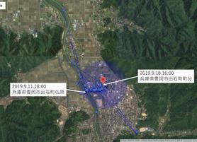 GPS情報 J0097♂ 2019.9.11.18:00~2019.9.18.16:00
