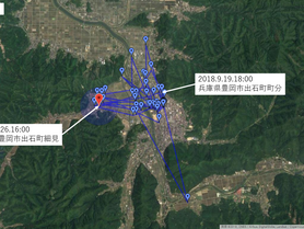 GPS情報 J0097♂ 2018.9.19.18:00~2018.9.26.16:00