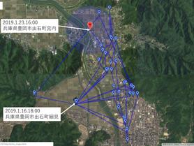 GPS情報 J0097♂ 2019.1.16.18:00~2019.1.23.16:00