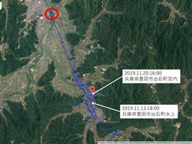 GPS情報 J0097♂ 2019.11.13.18:00~2019.11.20.16:00